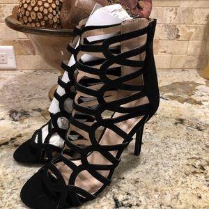 New! Shoe Republic LA Strappy Heels Open Toe Boots